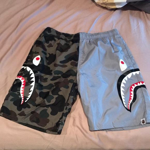 6d9483c55e4c Bape Other - Bape shark beach shorts camo